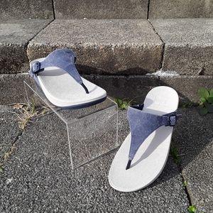 Fitflop Lulu Denim Wobbleboard Sandals Women's 9